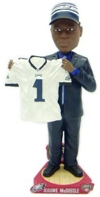 Philadelphia Eagles Jerome McDougle Draft Pick Bobble Head