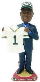 Green Bay Packers Kenny Peterson Draft Pick Bobble Head