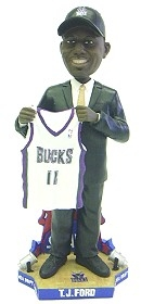 Milwaukee Bucks T.J. Ford Draft Pick Bobble Head