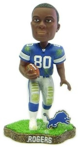 Detroit Lions Charles Rogers Game Worn Bobble Head