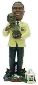 Oakland Raiders Marcus Allen Hall of Fame Bust Bobble Head