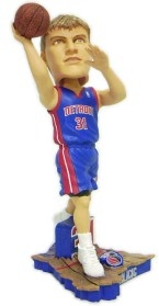 Detroit Pistons Darko Milicic Road Jersey Action Pose Bobble Head