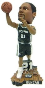 San Antonio Spurs Tim Duncan Action Bobble Head