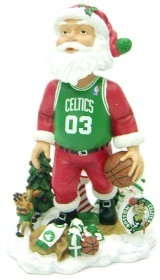 Boston Celtics Santa Claus Bobble Head
