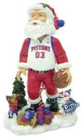 Detroit Pistons Santa Claus Bobble Head