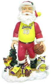 Los Angeles Lakers Santa Claus Bobble Head
