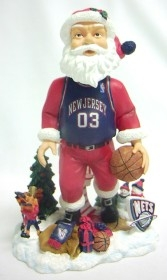 New Jersey Nets Santa Bobble Head