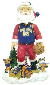 New York Knicks Santa Claus Bobble Head