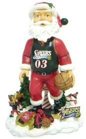 Philadelphia 76ers Santa Claus Bobble Head