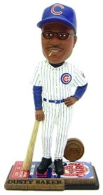 Chicago Cubs Coach Dusty Baker Ticket Base Bobble Head