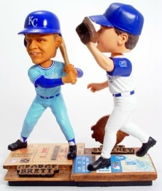 Kansas City Royals Brett & Sweeney Then & Now Bobble Head