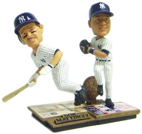 New York Yankees Mattingly & Jeter Then & Now Bobble Head