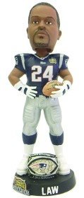 New England Patriots Ty Law Super Bowl 38 Champ Ring Bobble Head