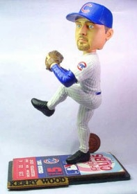 "Chicago Cubs Kerry Wood 18"" Ticket Base Bobble Head"