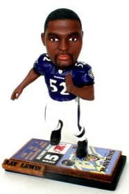 Baltimore Ravens Ray Lewis Ticket Base Bobble Head
