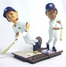 New York Yankees Mattingly & Rodriguez Then & Now Bobble Head