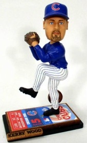 Chicago Cubs Kerry Wood Alternate Ticket Base Bobble Head