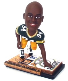 Green Bay Packers Kabeer Gbaja-Biamila Ticket Base Bobble Head