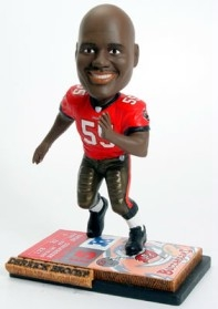 Tampa Bay Buccaneers Derrick Brooks Ticket Base Bobble Head