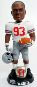"Ohio State Buckeyes W Smith 10"" Championship Ring White Bobble Head"