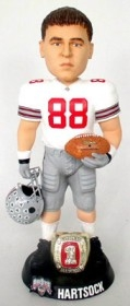 "Ohio State Buckeyes Ben Hartsock 10"" Championship Ring White Bobble Head"