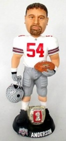 "Ohio State Buckeyes Tim Anderson 10"" Championship Ring White Bobble Head"