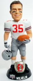 "Ohio State Buckeyes Matt Wilhelm 10"" Championship Ring White Bobble Head"
