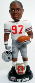 "Ohio State Buckeyes Kenny Peterson 10"" Championship Ring White Bobble Head"