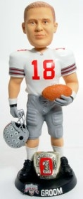 "Ohio State Buckeyes Andy Groom 10"" Championship Ring White Bobble Head"