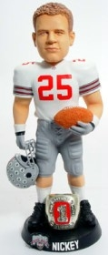 "Ohio State Buckeyes Donnie Nickey 10"" Championship Ring White Bobble Head"