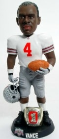 "Ohio State Buckeyes Chris Vance 10"" Championship Ring White Bobble Head"