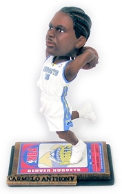Denver Nuggets Carmelo Anthony Home Jersey Ticket Base Bobble Head