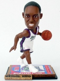 Milwaukee Bucks Michael Redd Ticket Base Bobble Head
