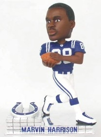 Indianapolis Colts Marvin Harrison Platinum Bobble Head