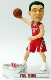 Houston Rockets Yao Ming Platinum Bobble Head