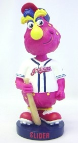 """Cleveland Indians Mascot """"Slider"""" Knucklehead Style Bobble Head"""