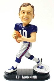 New York Giants Eli Manning Black Base Edition Bobble Head