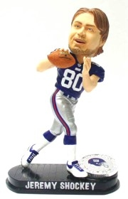 New York Giants Jeremy Shockey Black Base Edition Bobble Head