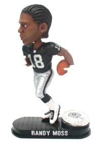 Oakland Raiders Randy Moss Black Base Edition Bobble Head