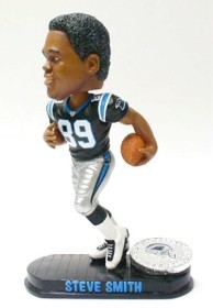 Carolina Panthers Steve Smith Black Base Edition Bobble Head