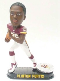 Washington Redskins Clinton Portis Black Base Edition Bobble Head