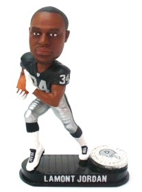 Oakland Raiders LaMont Jordan Black Base Edition Bobble Head