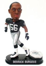 Oakland Raiders Derrick Burgess Black Base Edition Bobble Head