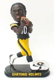 Pittsburgh Steelers Santonio Holmes Black Base Edition Bobble Head