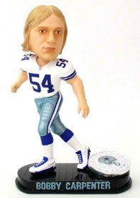 Dallas Cowboys Bobby Carpenter Black Base Edition Bobble Head