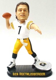 Pittsburgh Steelers Ben Roethlisberger Home Jersey Black Base Edition Bobble Head