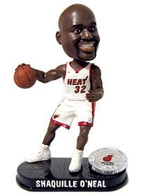 Miami Heat Shaquille O'Neal Blatinum Bobble Head