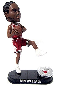Chicago Bulls Ben Wallance Blatinum Bobble Head