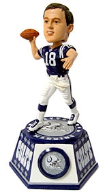 Indianapolis Colts Peyton Manning Bobble Head Clock