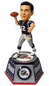 New England Patriots Tom Brady Bobble Head Clock